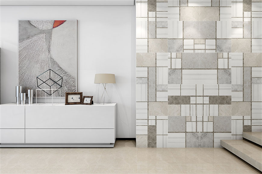 Block Polished Marble Porcelain Back Tiles